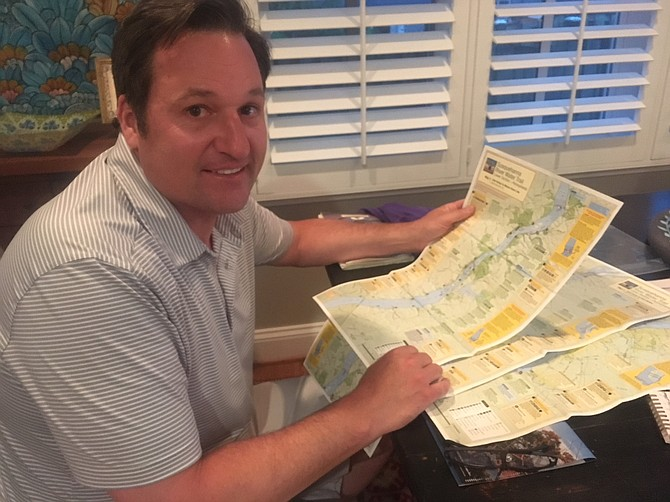 Maps were a major part of Greg Joachim's fundraising canoe trip through Pennsylvania.
