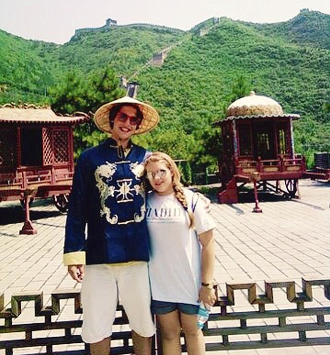 Alexander and Natascha Zelloe during their first trip to China together in 2011.