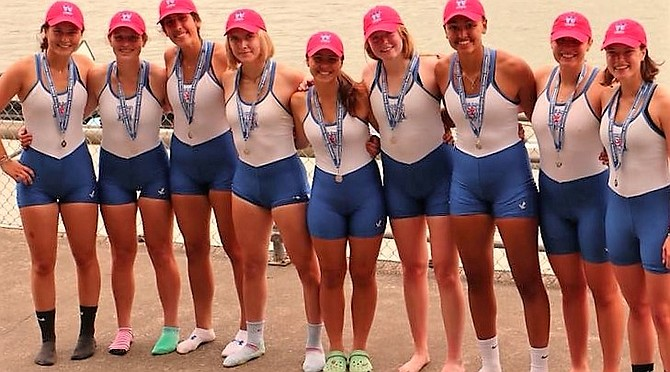 Women's First 8 boat.