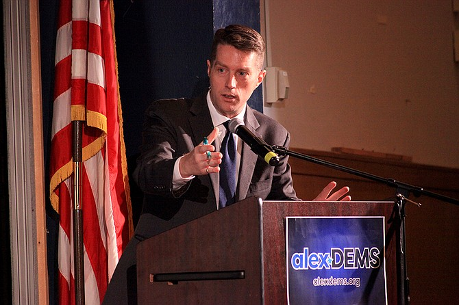 Michael Lee Pope was moderator for the Alexandria Democratic Committee City Council debate.