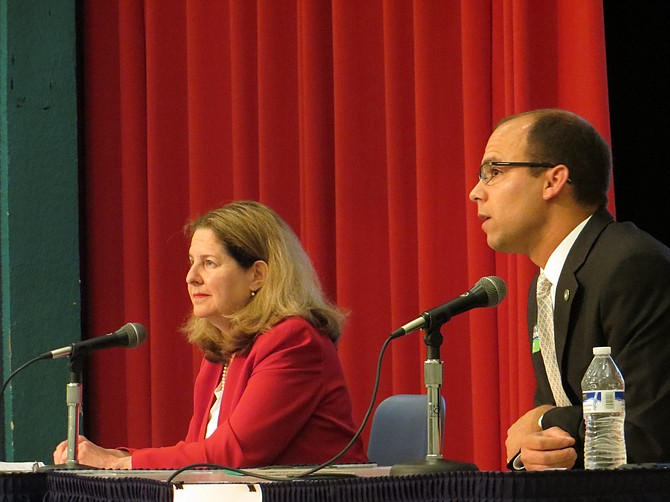 Mayor Allison Silberberg (left) and Vice Mayor Justin Wilson.