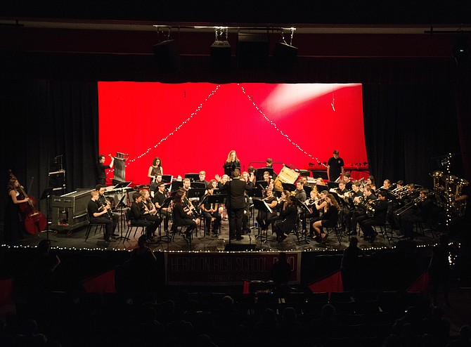 Approximately 800 people attended the concert at Herndon High.