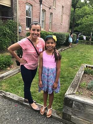 Mentor Sophia Fuentes with Melani.