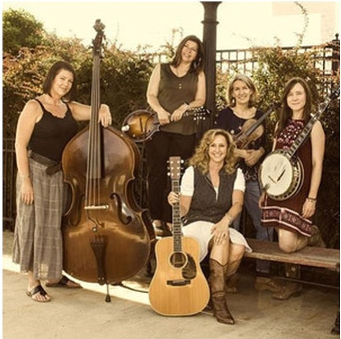 Sweet Yonder is a fired-up, all-women, bluegrass band.