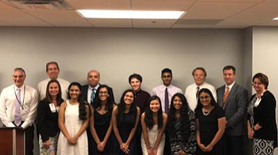 In a recent ceremony,  Reston  Hospital Center awarded scholarships to seventeen area high school seniors in recognition of their academic excellence and passion for xpursuing careers in healthcare.