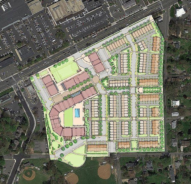 IDI wants to build 131 townhouses, 164 condos and 20,000 square feet of retail, plus have 24,000 square feet of commercial/community uses on the Paul VI property.