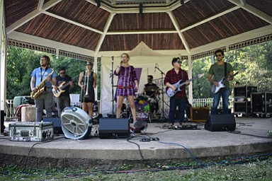 Black Masala -- Brendan Schnabel, Scott Clement, Kirsten Warfield, Kristen Long, Mike Ounallah, Chris Lee, Peter Kalavritinos -- performed at the McLean Central Park Gazebo Sunday.