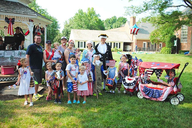 Winners of the Little Patriot Parade were The Fein Family, Star Spangled Family; Jenson Mills, Most Patriotic; Bella Kerlin, Little Liberty; Walker & Maddy Brown, Most Creative; Hadley Sherrill, Little Miss Betsy Ross; Young George Washington; Olive and Foster Kriebel, Best Decorated; and Rogue Glascock, Most Patriotic Baby.