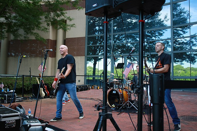 JunkFood took the stage at the Fairfax Government Center to kick off the summer concert series.