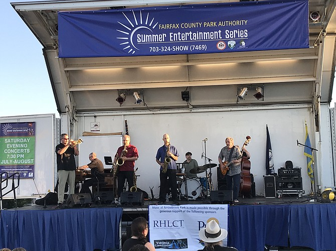 """Roomful of Blues"" performs on July 7 in Herndon for the Fairfax County Park Authority Summer Entertainment Series 2018 Music at Arrowbrook Park."