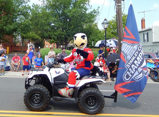 Slapshot, mascot of the Stanley Cup-winning Washington Capitals hockey team.
