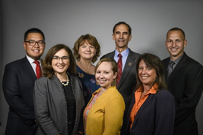 Mount Vernon District Supervisor's office: Tae Choi, development and land use aide; Christine Morin, chief of staff; Donna Slaymaker, office manager; Allison Miessler, transportation, public safety and human services aide; Supervisor Dan Storck; Camela Speer, director of communications; and Abdul Shaban, events and community outreach aide.