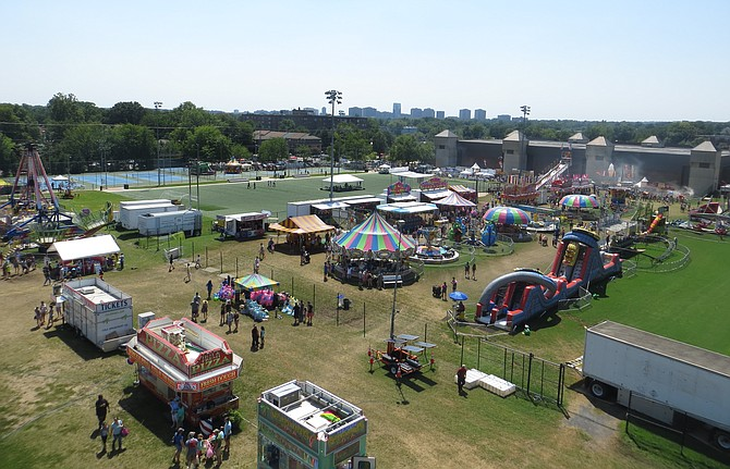The Arlington County Fair last year from the top of the ferris wheel.