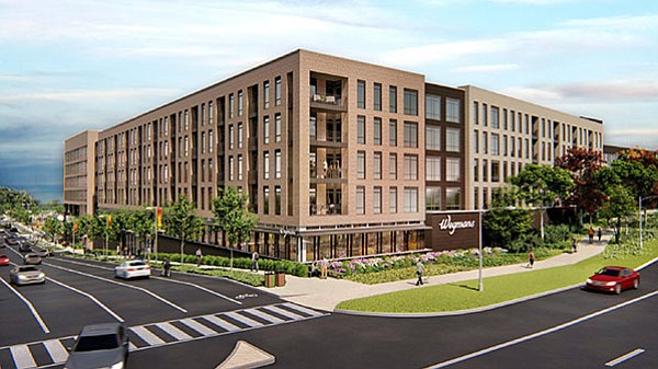 Rendering of the proposed urban-style Wegmans at Reston Crescent off Reston Parkway.