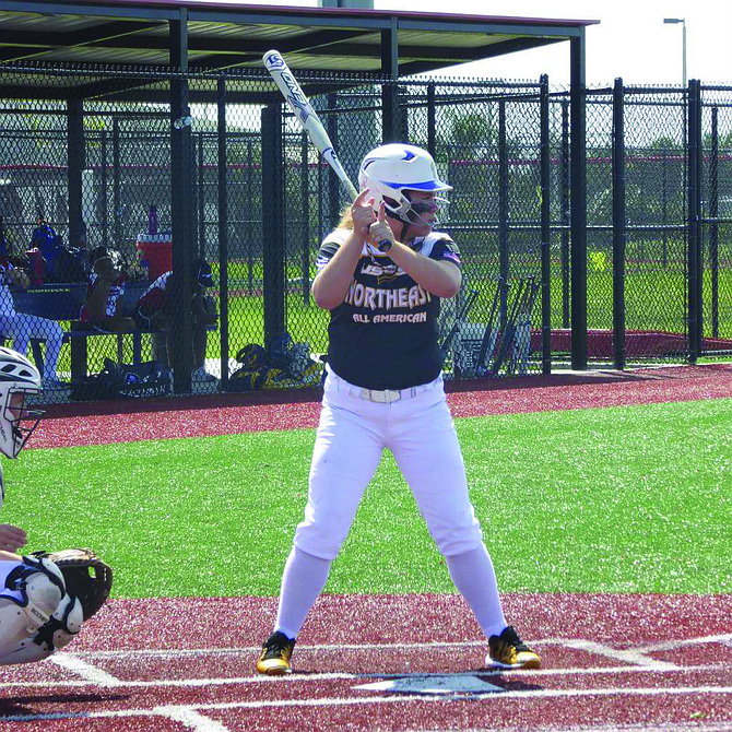 Mackenzie Swanson gets up to bat for the USSSA 13U Northeast team.