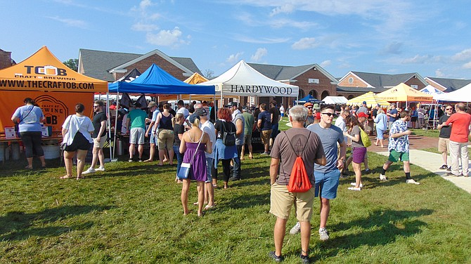 Some of the booths at the Workhouse Brewfest, which featured 35 craft distilleries and artisan breweries from across the region.