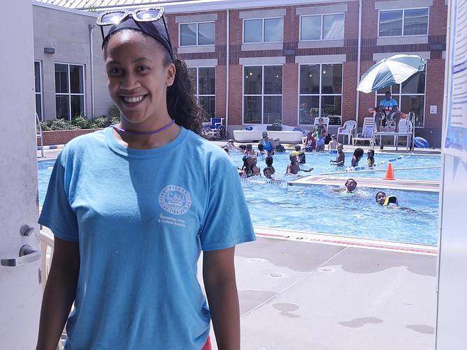 Alisha Saine, pool manager at Charles Houston Memorial Pool.