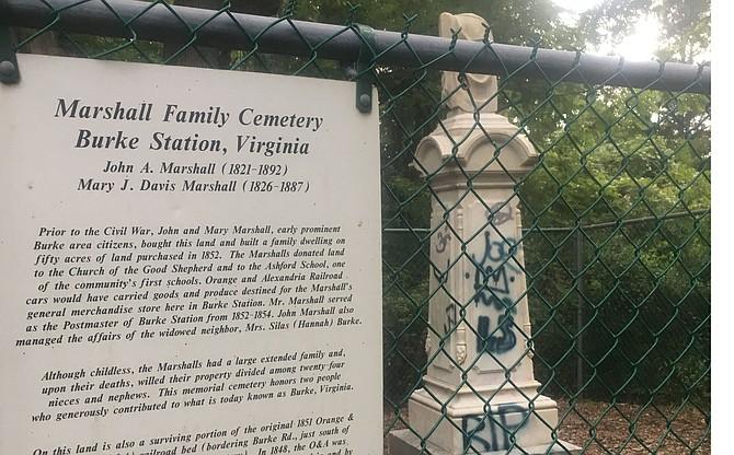 Cemetery in Burke vandalized.