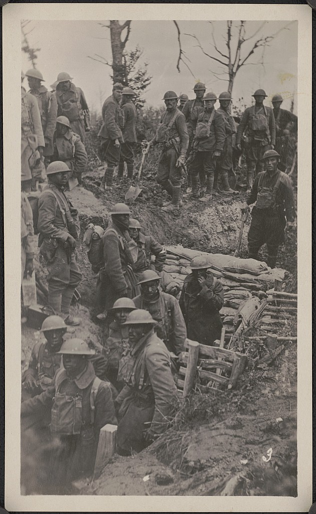 The 92nd Infantry Division in Argonne Forest, France in WW I.