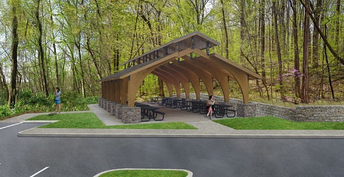 Outdoor Education Classroom/Picnic Shelter will support the Riverbend Park's educational mission.