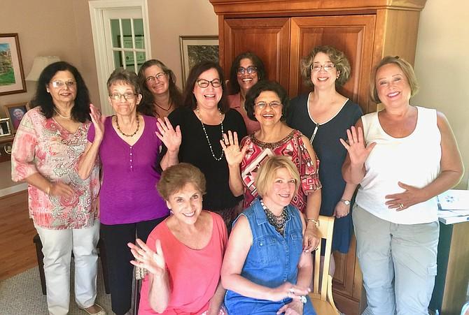Potomac Area Neighbors Club board (from left): Poonam Mannan, Marjorie Rothschild, Kim Belvin, Laura Nash, Madhu Shekhar, Archana Dheer, Suzel Lemus, Susan Rosen; sitting: Alexa Kempel, Joanne Zinsmeister; not in picture: Anu Reddy.