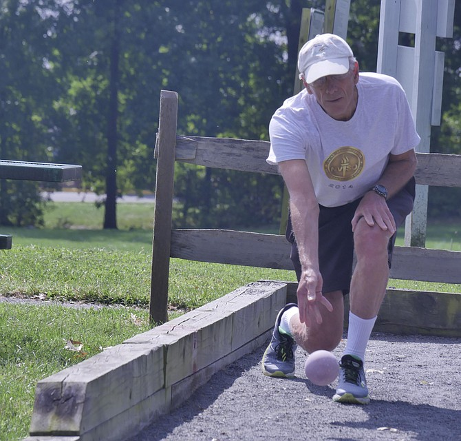 Northern Virginia Senior Olympics bocce competitor.