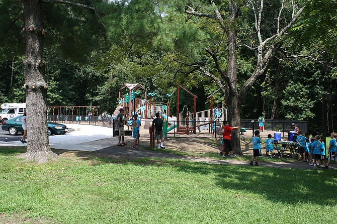The new playground at Hidden Pond park is a big hit for children in the summer.