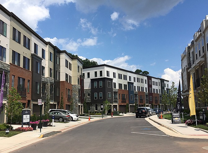 Although plenty of construction is still underway at The Preserve at Westfields, homes in this section are finished and people have already moved in.