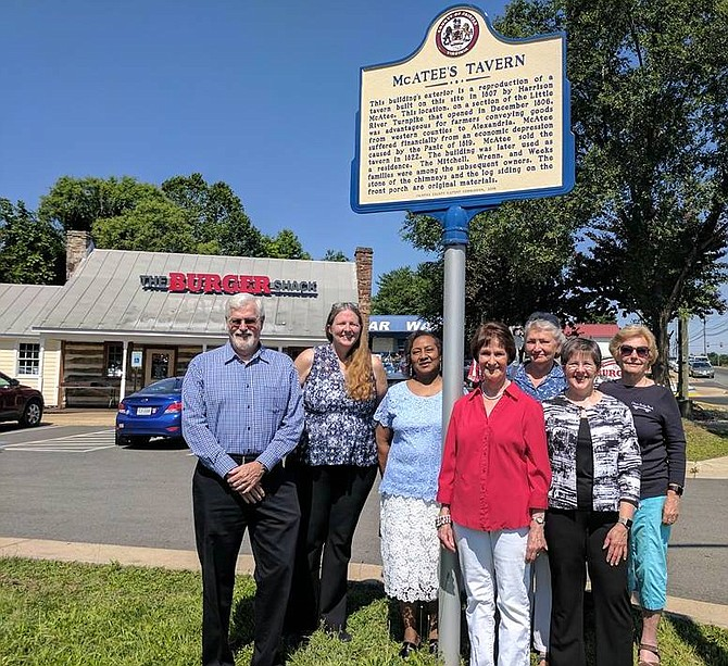McAtee's Tavern historic marker unveiled on June 10, 2017.