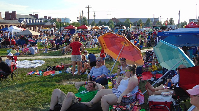 The crowd at the Fourth of July celebration at Lorton Arts Center.