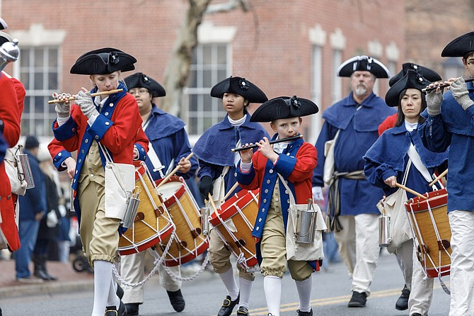 The George Washington Birthday Parade celebrates the birthday of the nation's first president with the country's largest parade in his honor. It is one of Alexandria's many festivals and parades that draw thousands of visitors to the city.