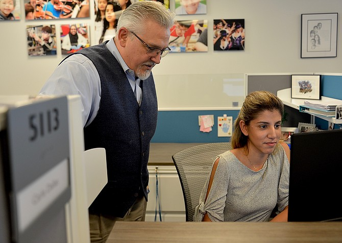 """We're open for business,"" said Armando Peri, ombudsman for the newly created Fairfax County Public Schools' Office of the Family and Student. School opens this week, but Peri and Carla Dallas, the department's administrative assistant, have already been handling calls."