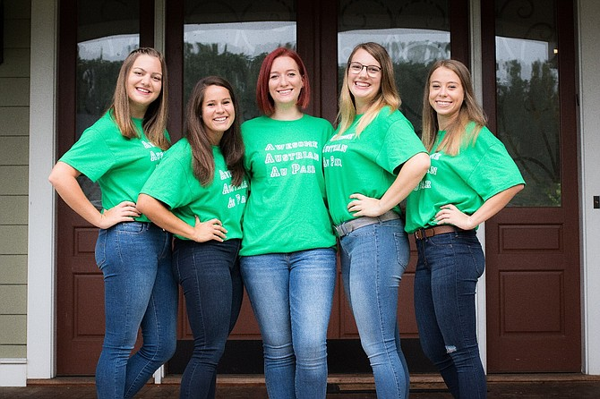 Five past au pairs from Austria have a reunion in McLean.