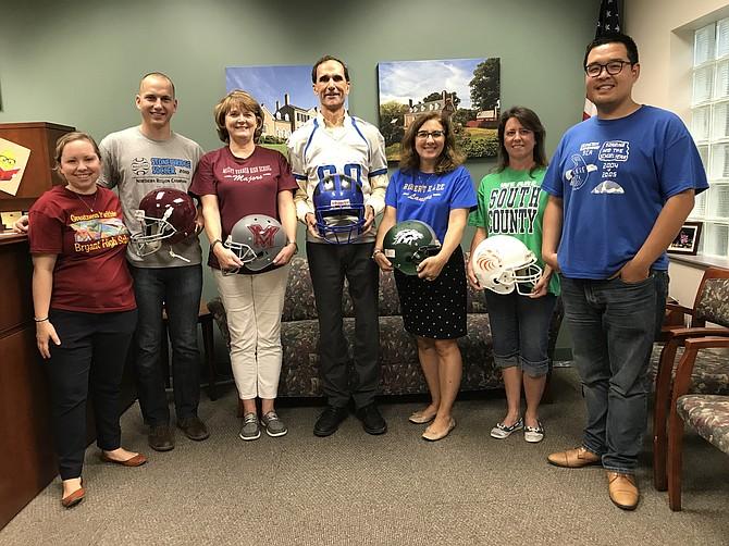 Mount Vernon District staff display Back-to-School spirit.