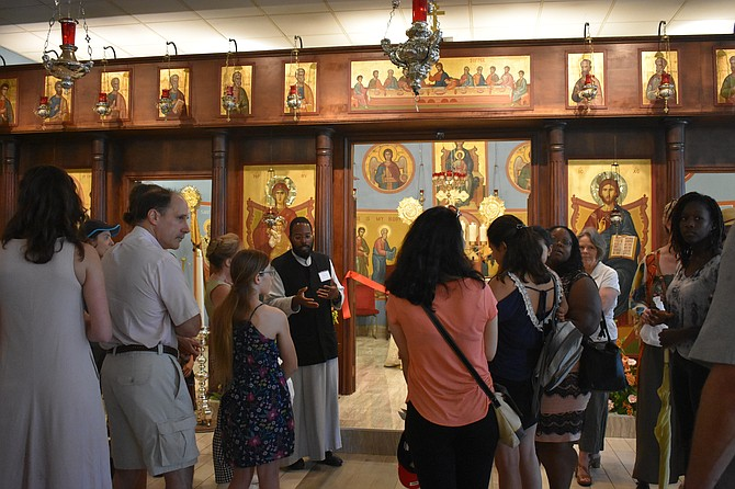 Attendees were able to take tours of the church.