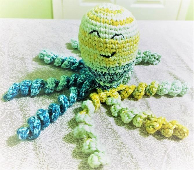 Crocheted Octopus doll by Abhya Vij.