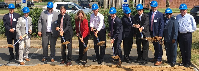 Public officials, including Gov. Ralph Northam and U.S. Rep. Don Beyer, break ground on The Bloom / Carpenter's Shelter.