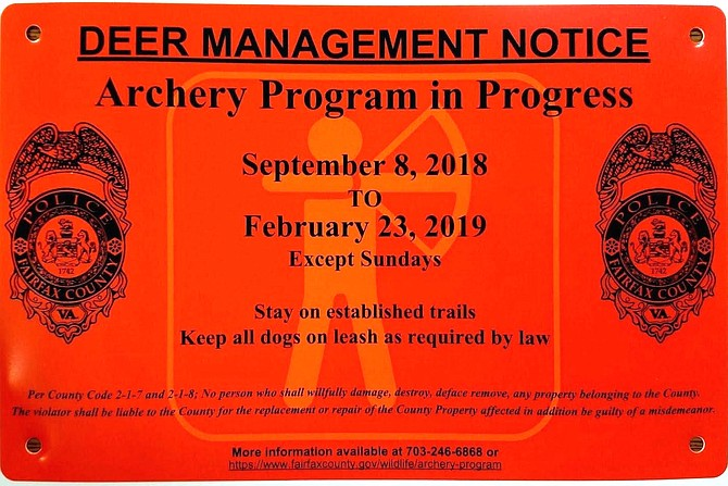 These signs are posted in archery program areas.