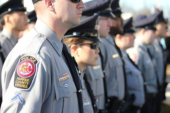 """First responders are shown telling their stories in """"Consequences of the Badge."""""""