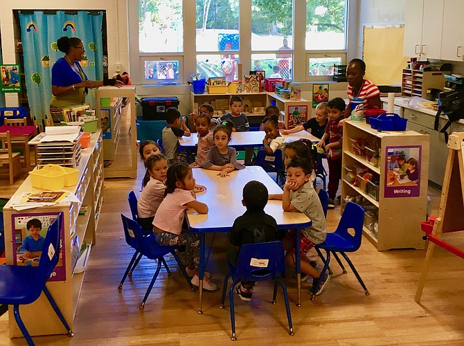 A preschool class at ACPS's new Early Childhood Center.