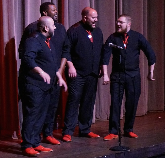 "Florida's award-winning Signature Quartet performs Neil Diamond's ""Sweet Caroline"" at the Sept. 8 concert celebrating the 70th anniversary of the Alexandria Harmonizers."