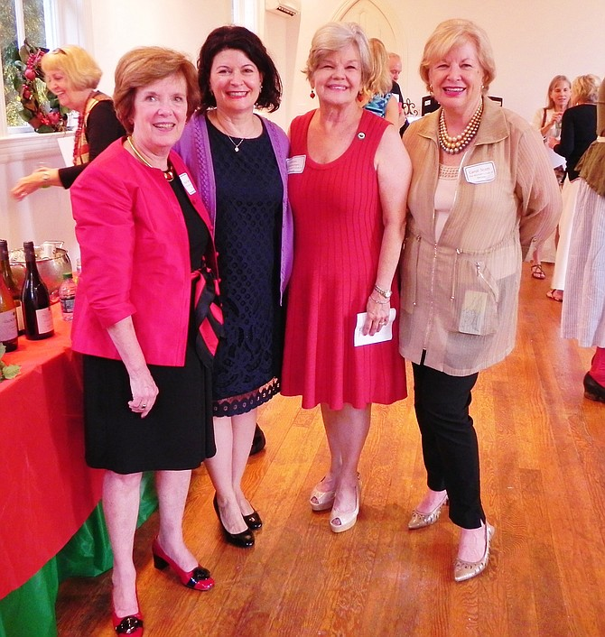 Virginia State Sen. Barbara A. Favola (D-31) pictured with McLean Woman's Club president and event organizers. From left: Co-Chairman Kay Van Hoven, Senator Favola, Woman's Club President Kathryn Mackensen, and Chairman Carol Scott.