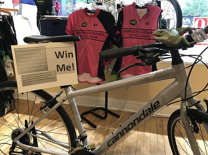 Green Lizard Cycling is raffling a 2019 Cannondale Quick 6 bicycle, donated by Cannondale DMV to help support funds needed for HHS Bands' D-Day 75th Anniversary Trip to Normandy 2019.