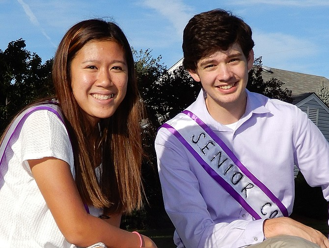 Senior Court members Mia Pham and Colton Anderson.