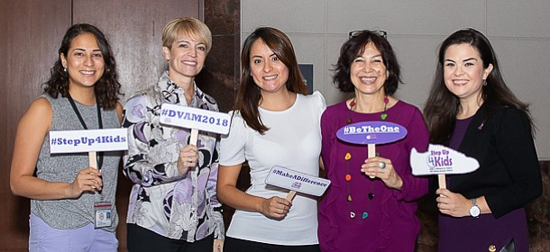 From left are Nadia Hoonan, Ina Fernandez, Angie Acosta, Debra Ranf, and Brittany Vera.