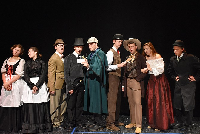 From left are cast members Ashley Andre, Nora Lewis, Matthew Krelovich, Colin Brown, Josh Moore, Hayden Cutler, John Henry Stamper, Keeley Rogers, Braeden Anderson.