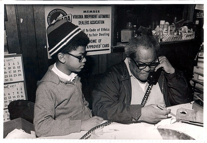 Olander Banks Sr., and son, Kenneth in his business office in Woodbridge, Va.