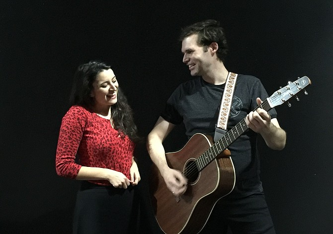"Candice Shedd-Thompson and Matthew Schleigh star in MetroStage's production of ""Rooms: a Rock Romance,"" from Oct. 11 to Nov. 11."