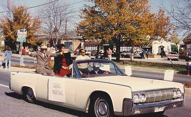 Leonard Proctor was grand marshal at an early Potomac Day parade.