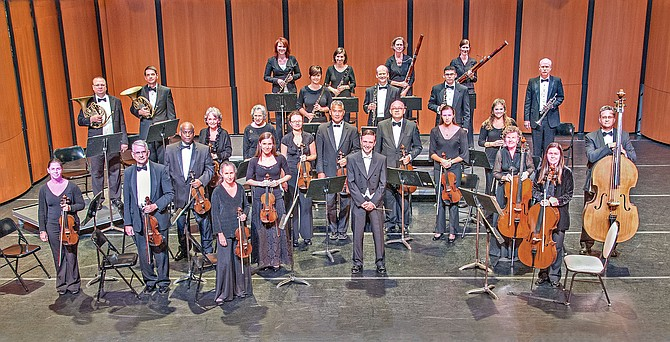 Virginia Chamber Orchestra in performance.
